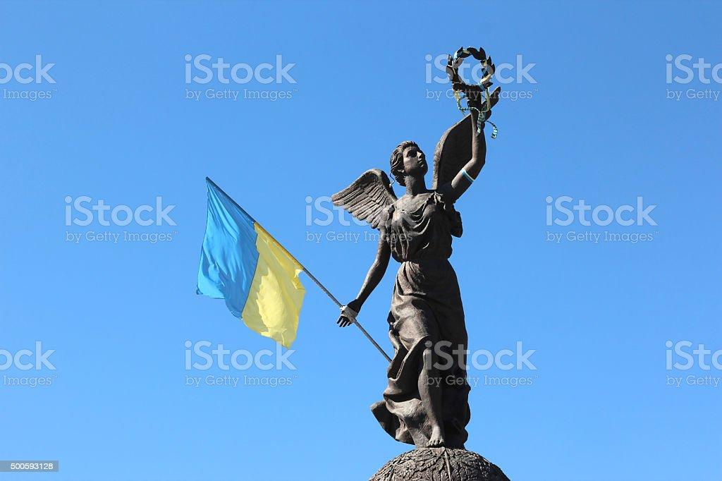 the independence monument in Kharkov, Ukraine stock photo