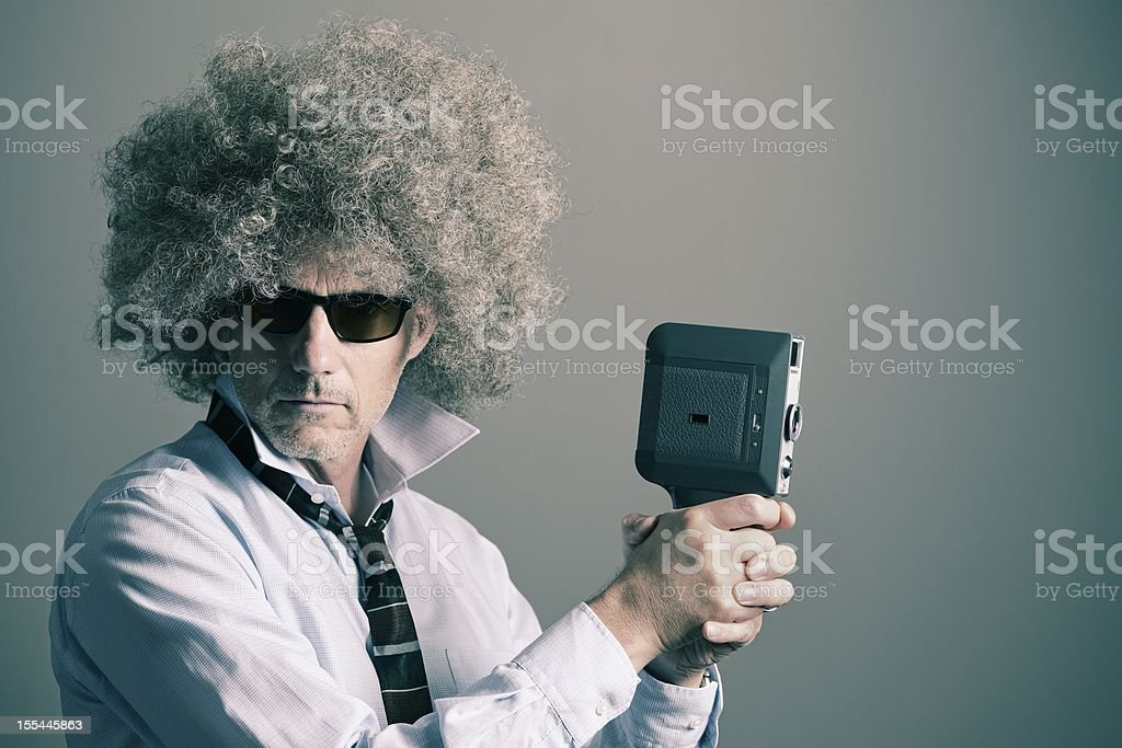The Independent Film Maker royalty-free stock photo