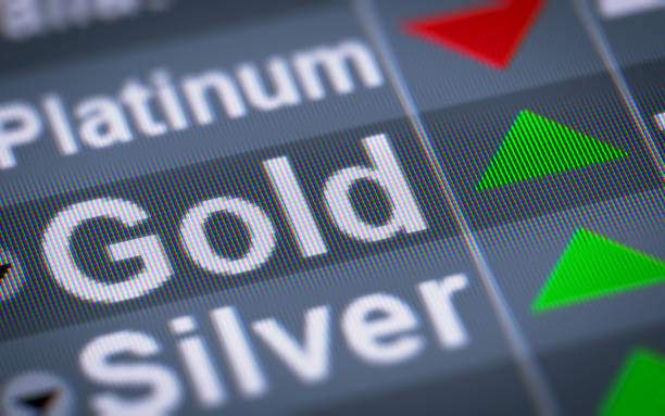 The Index of Gold on The Screen. stock photo