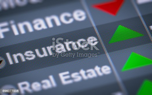 istock The Index of Insurance on The Screen. 696077008