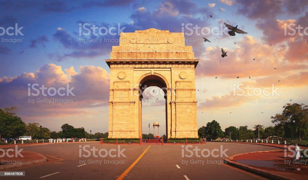The India Gate in Delhi stock photo