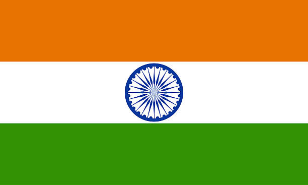The Indian Flag With Horizontal Tricolor Design Stock Photo