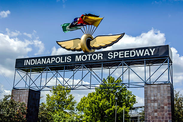 The Indianapolis Motor Speedway stock photo