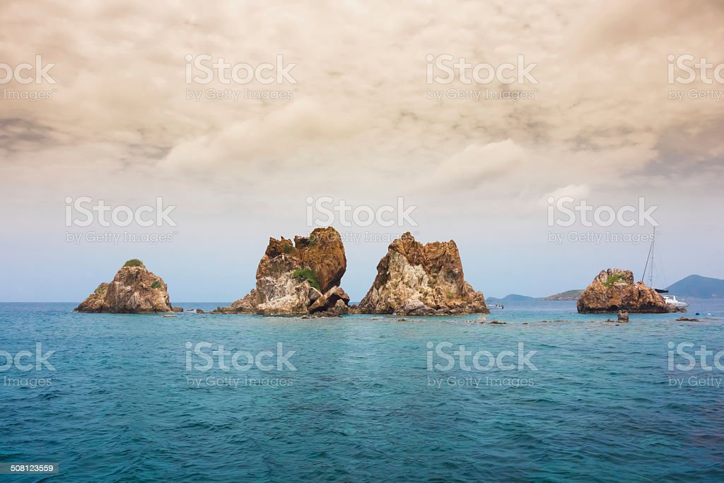 The Indians Above Water stock photo