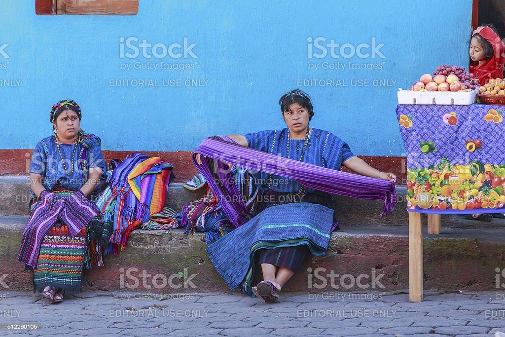 The indigenous people of Santiago Atitlan. Guatemala stock photo
