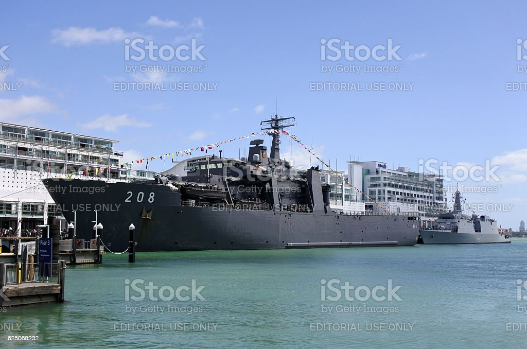 The Indonesian Navy dock ship KRI Banda Aceh (LPD 539) stock photo