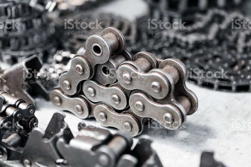 The industrial chains for machine royalty-free stock photo