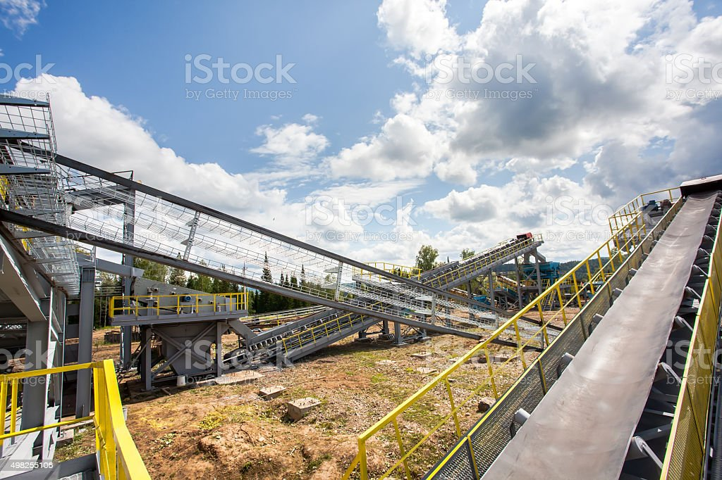 The industrial landscape stock photo