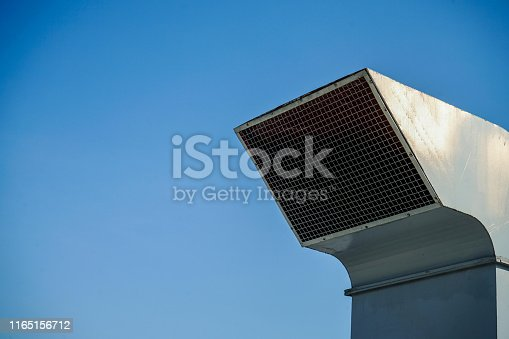 1132460292 istock photo The industrial machine at the rooftop of the huge building. 1165156712