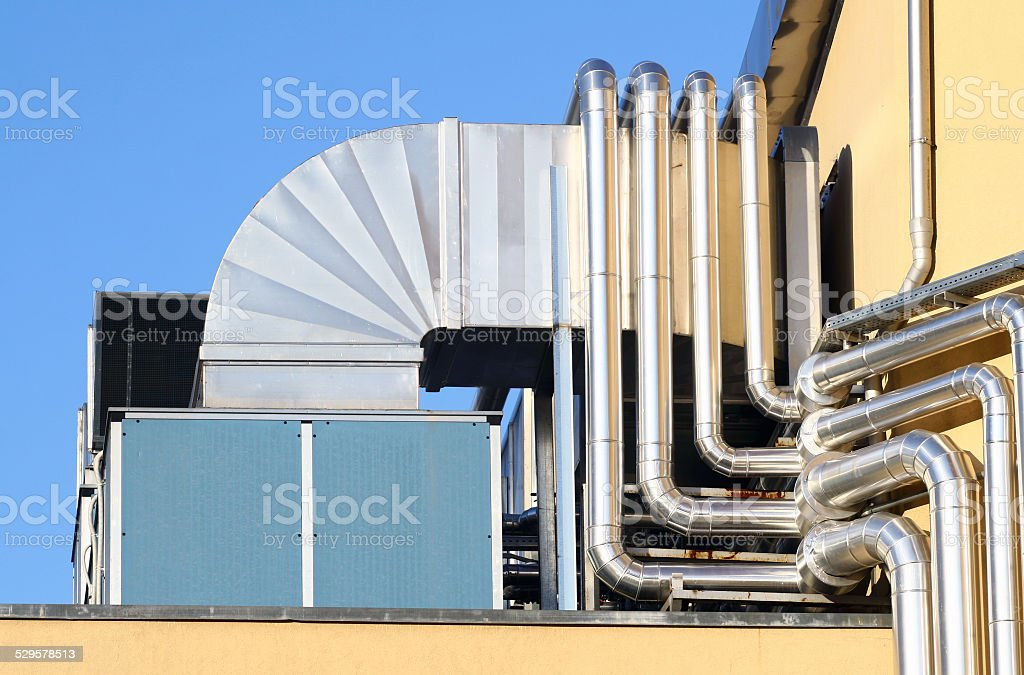The industrial system of aeration. stock photo