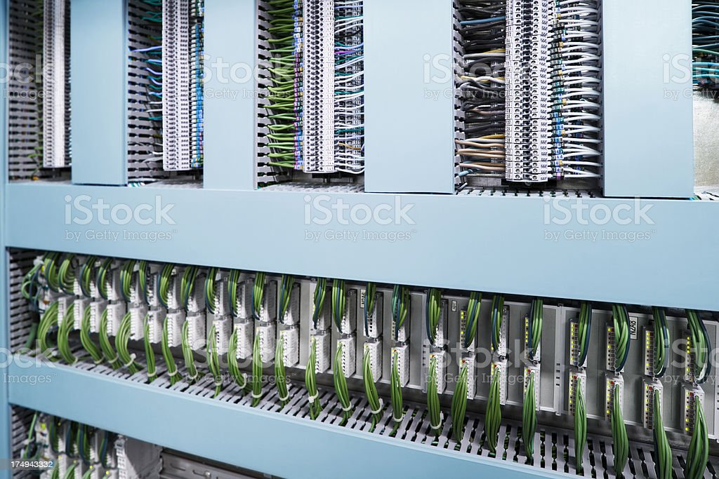 The industrial unit of power distribution system stock photo