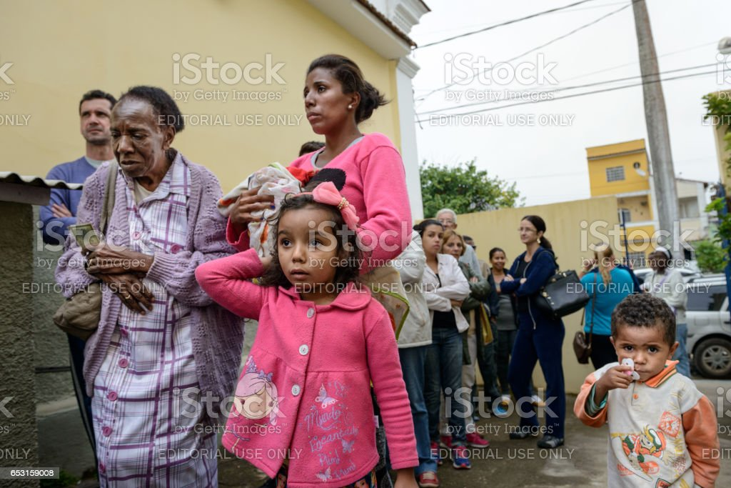 The Influenza A (H1N1) vaccination campaign in Brazil stock photo