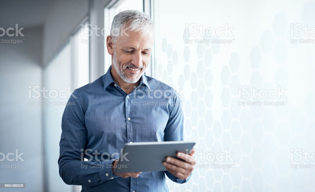 The informed entrepreneur stays ahead of the game stock photo