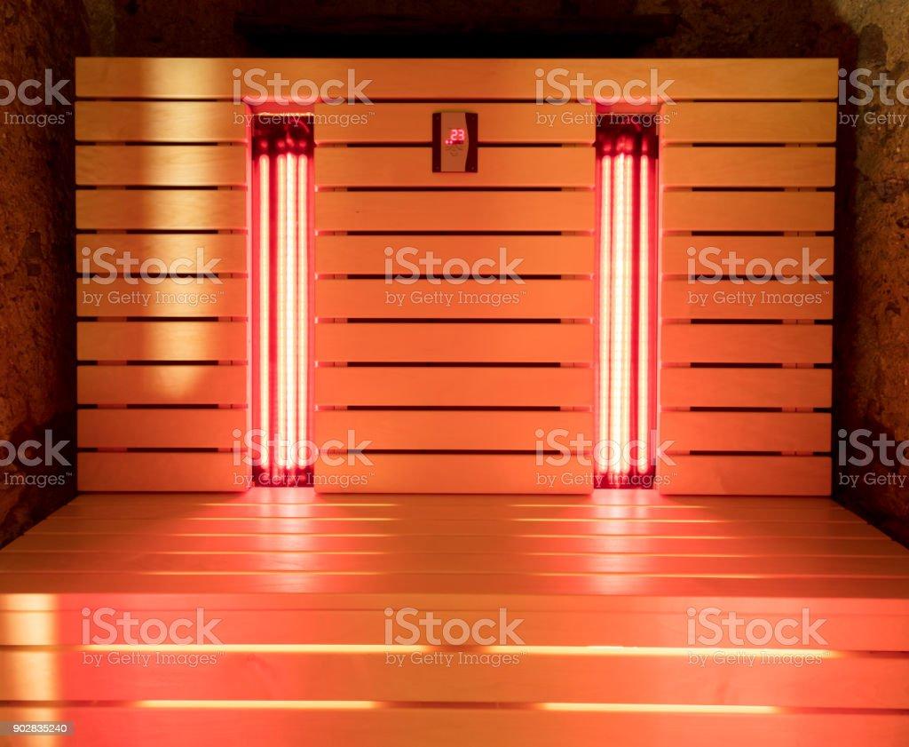 The infrared sauna stock photo
