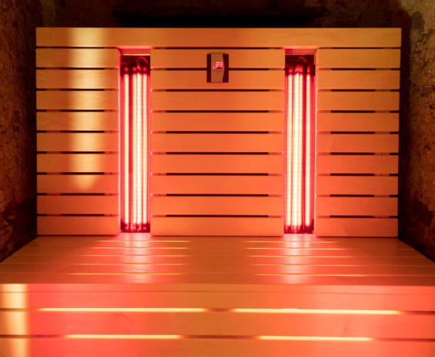 The infrared sauna The infrared sauna to improve the health and beauty sauna stock pictures, royalty-free photos & images