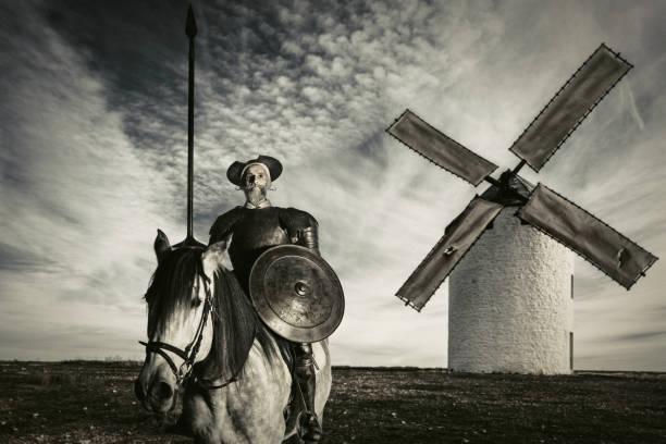 den geniala gentleman don quijote av la mancha - celebrities of age bildbanksfoton och bilder
