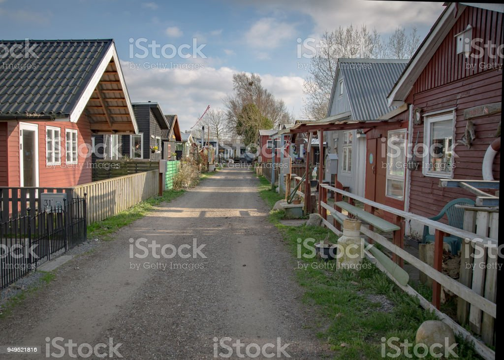 The inlet town of Aalborg stock photo