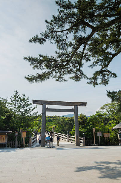 The Inner Shrine (Naiku) of Ise Jingu. Ise, Japan - Jun 14, 2014: Ise Jingu is famous shrines in Japan. shinto shrine stock pictures, royalty-free photos & images