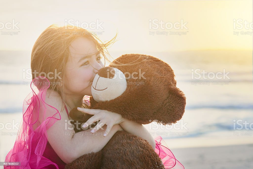 The innocence of childhood stock photo