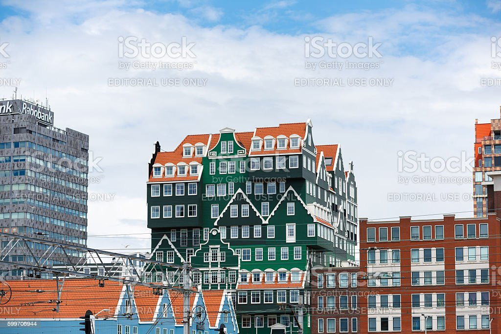 The Inntel hotel in Zaandam, Netherlands stock photo