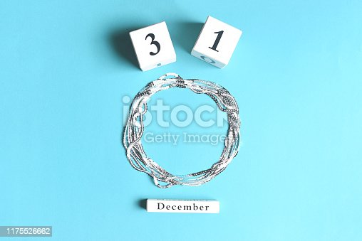 istock The inscription December 31 and a circle for text from sequins. 1175526662