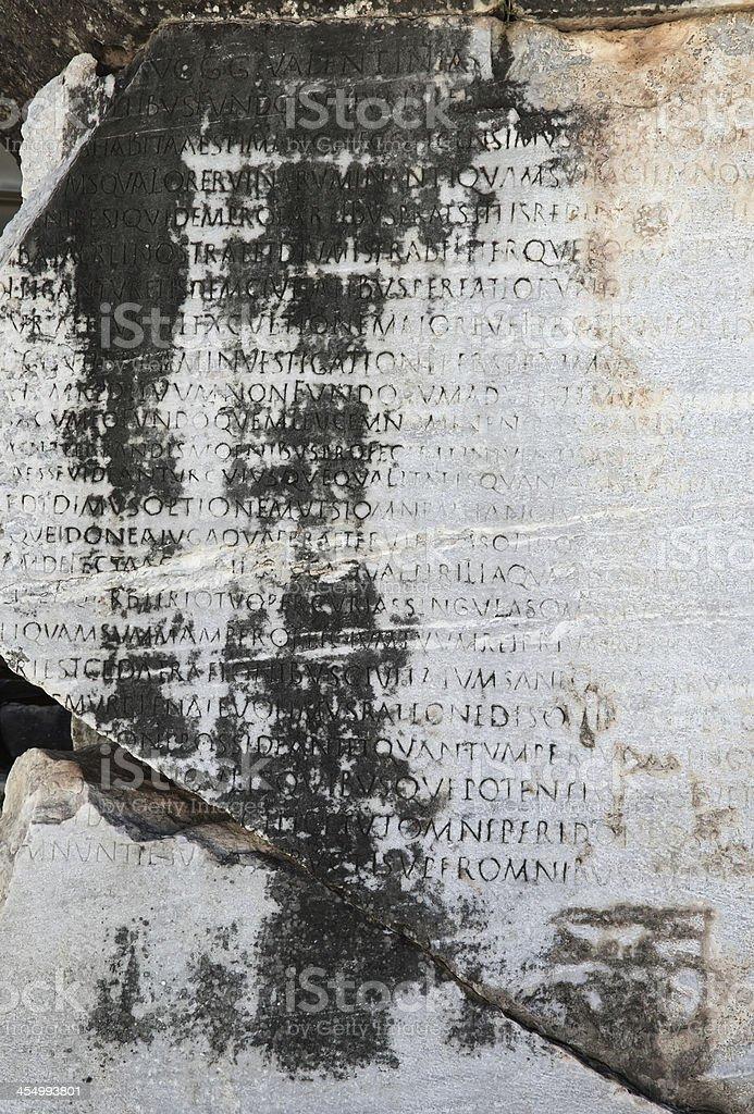 The Inscription royalty-free stock photo