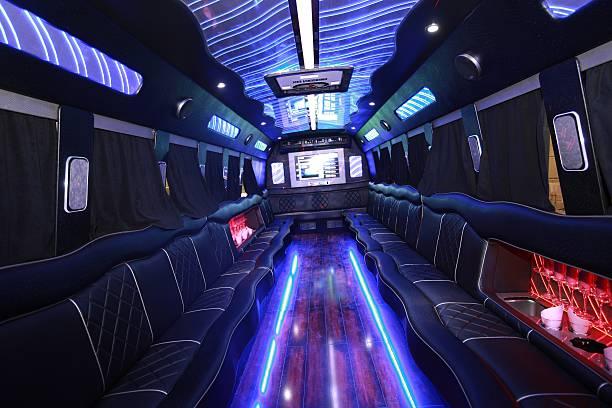 El interior de un partido de autobús - foto de stock