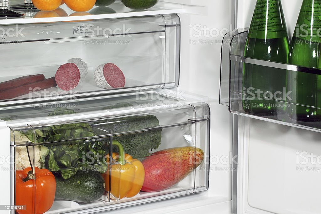 The inside of refrigerator royalty-free stock photo