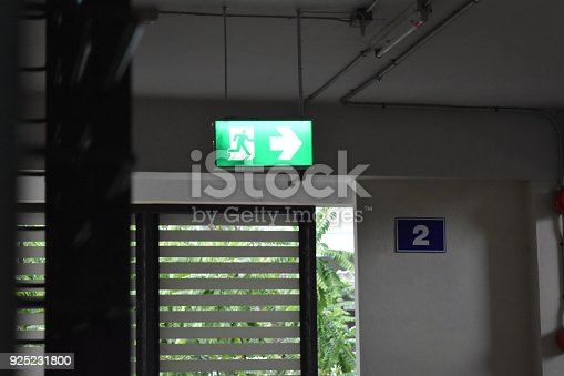 istock The inside of the building sees a clear sign. 925231800