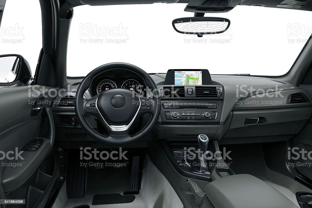 Innen oder Interieur eines modernen Autos – Foto