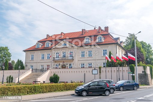 Wieliczka, Poland - July 27, 2019: The Institute of National Remembrance Commission for the Prosecution of Crimes against the Polish Nation.
