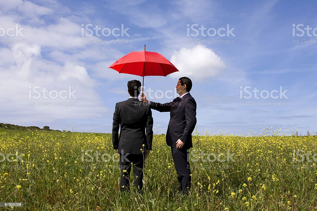 The insurance agent protection royalty-free stock photo