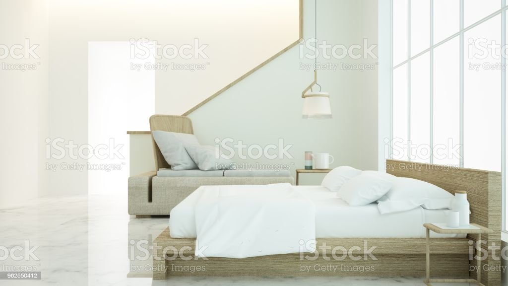 The interior apartment bedroom space 3d rendering and decoration background - Royalty-free Apartment Stock Photo