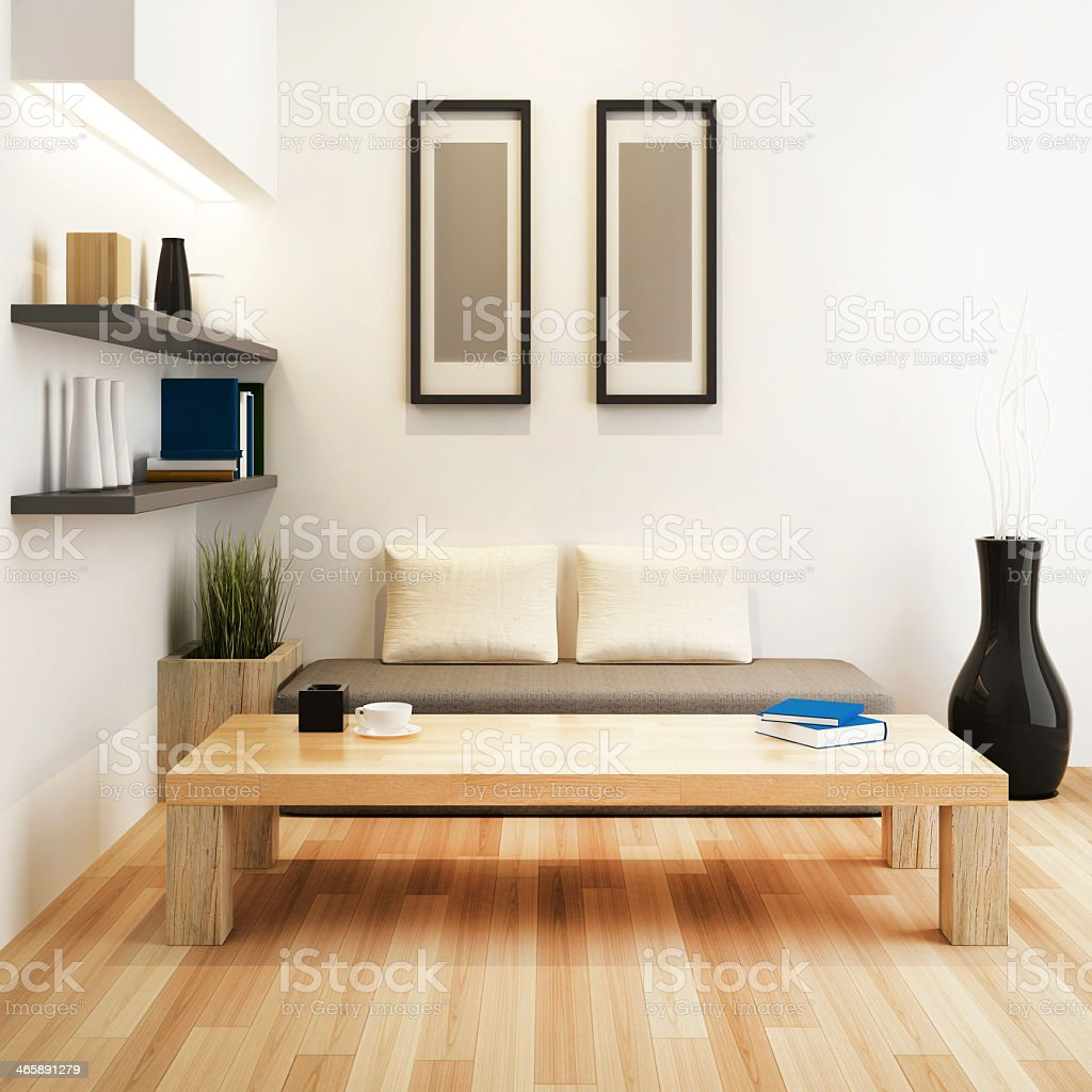 The interior design of a modern living room stock photo