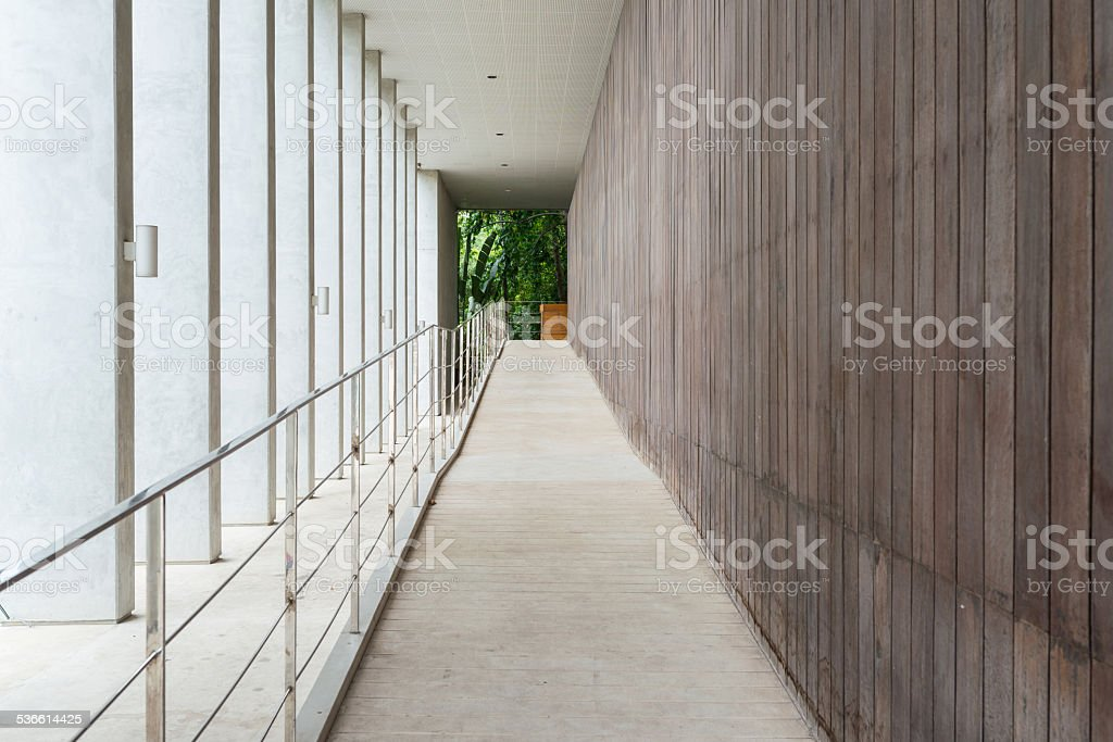 the interior of a office building stock photo