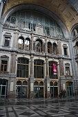 Antwerp, Belgium - February 12, 2017: The interior of Antwerp Central station.