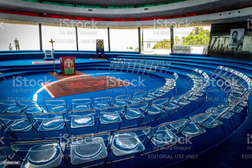 The interior of the Auditorium in Domus Galilaeae, Israel stock photo