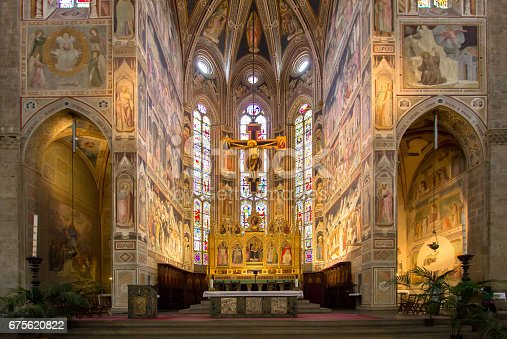 The Basilica of Santa Croce is one of the main Florence attractions of the Renaissance, Tuscany, Italy