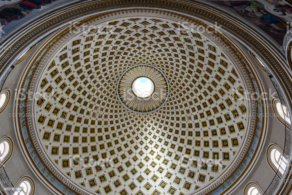 マルタのモスタ教会のドームの内...