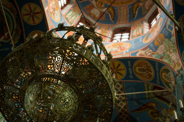 The interior of the Orthodox Church in Belarus, Eastern urope stock photo