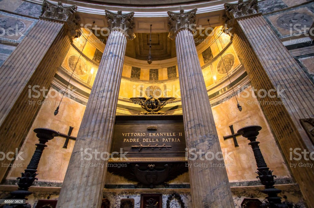 The interior of the Pantheon, Rome stock photo