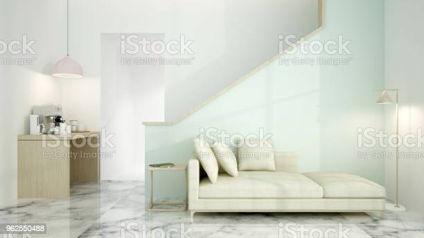 Foto de O Relax Interior Renderização 3d Espaço e mais fotos de stock de Aberto