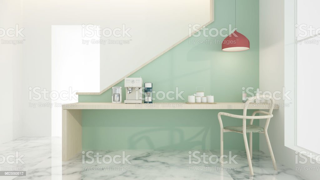 The interior relax space 3d rendering - Royalty-free Apartment Stock Photo