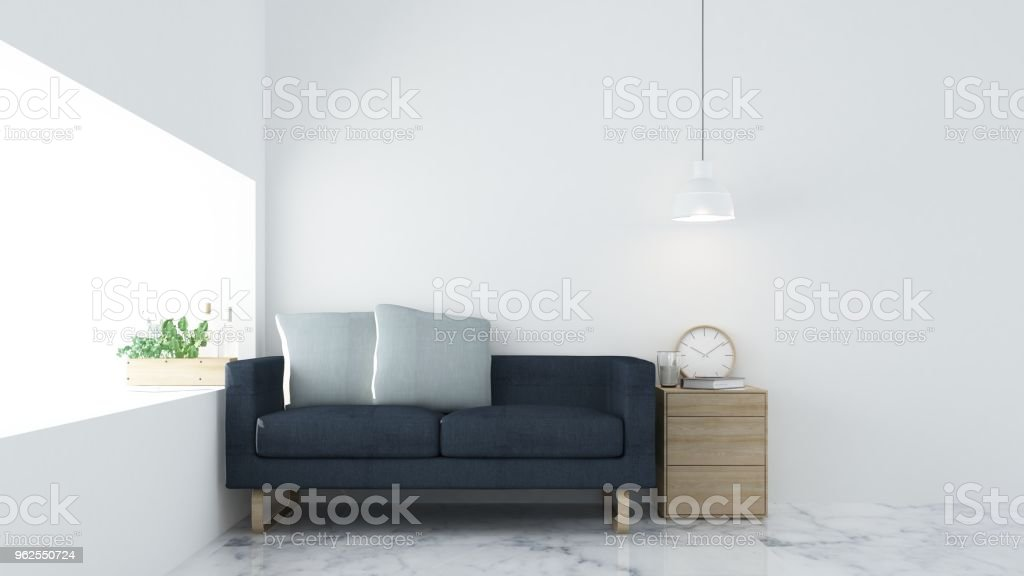 O relax interior renderização 3d espaço - Foto de stock de Aberto royalty-free