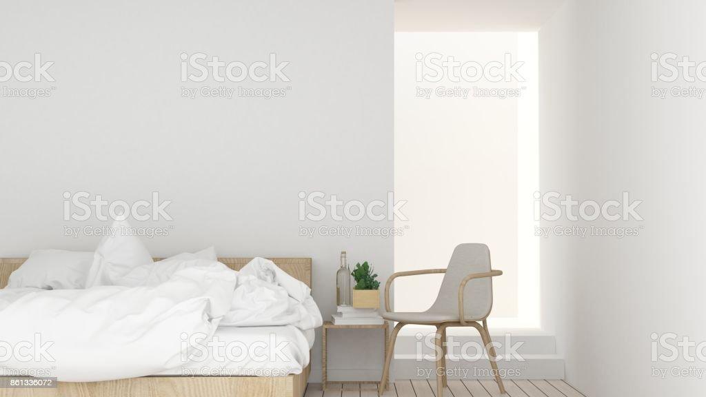 Het interieur relax ruimte meubilair en achtergrond wit decoratie