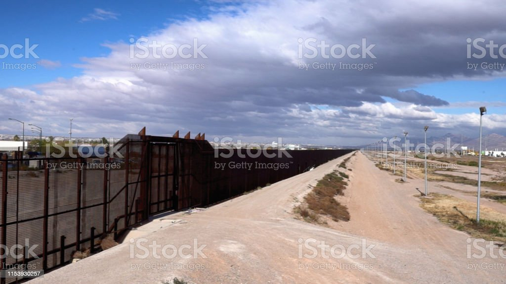 The Juarez Mexico side of the International Border crossing and El...