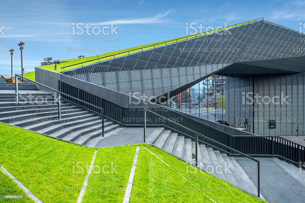 The International Conference Centre in Katowica stock photo