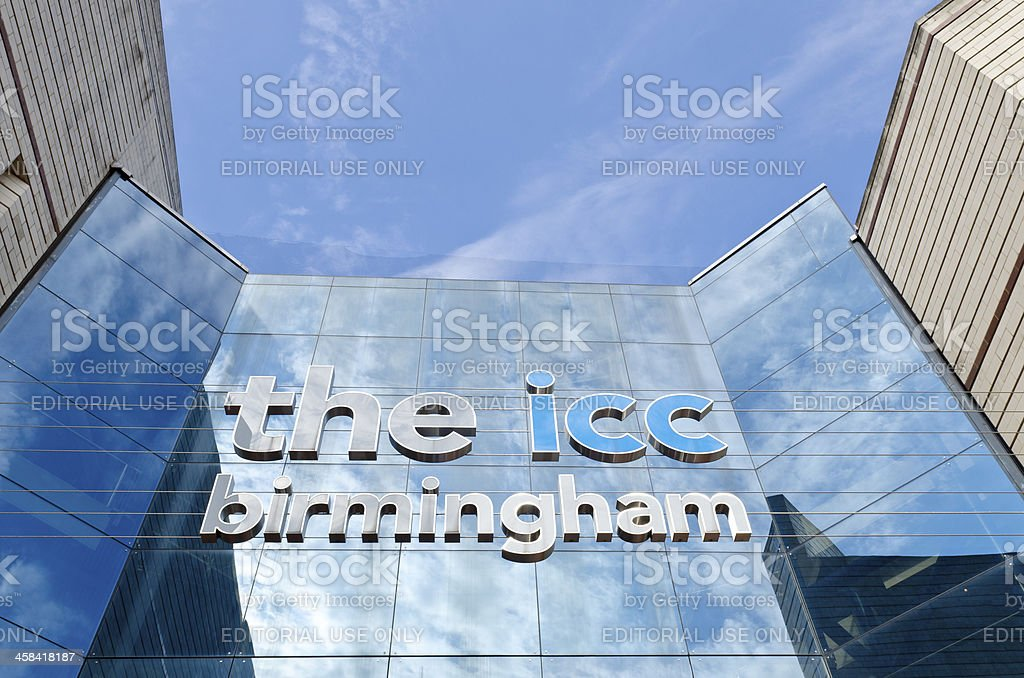 The International Convention Centre Birmingham royalty-free stock photo