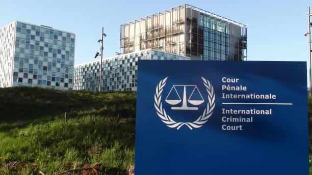 der international criminal court building außenszene in den haag-südholland niederlande. europa - rechtsassistent stock-fotos und bilder