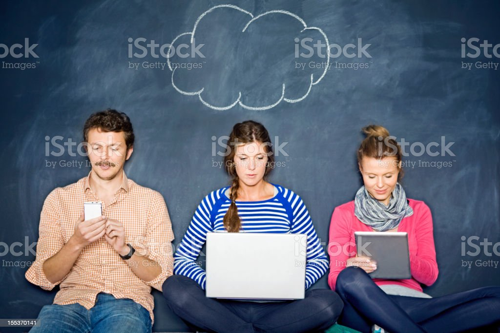 The internet cloud royalty-free stock photo